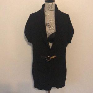 Chaps Black Sleeveless Long Sweater XL